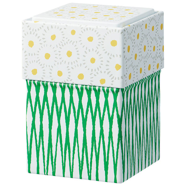 Keep your KITTA washi tapes organized and ready to go with this beautiful can - Flower. These Limited Edition Storage Can store up to 15 Kitta Washi Tape booklets. Theycan be stacked with each other. Made of tin, it is durable for storing many other items such as jewellery or small collectables. By stacking its lid at the bottom of the can, it becomes a pen holder.