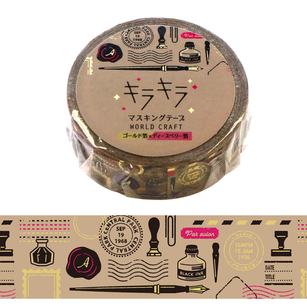 Stationery Love - Postmark, Stamp, Fountain Pen, Rubber Stamp, Ink and etc Washi Tape Foil