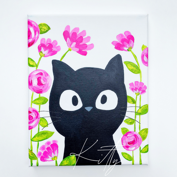 (SOLD OUT) Kitty Cat Painting Class
