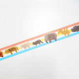 Palade Little Animal Round Top Masking Tape • Ratako