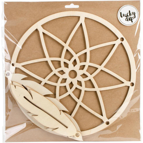 Dream Catcher Kaisercraft Lucky Dip Wood Embellishment