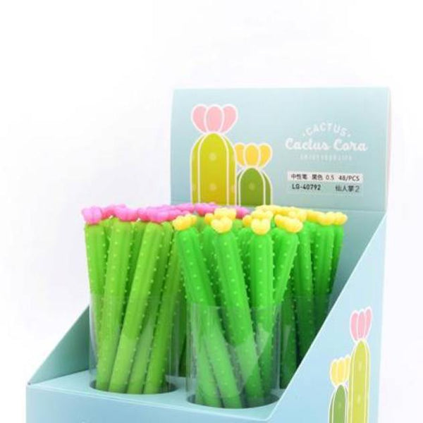 These cactus flower gel pens are perfect for planning, for work, home, desk or for school. They will be a beautiful addition to your pen collection!