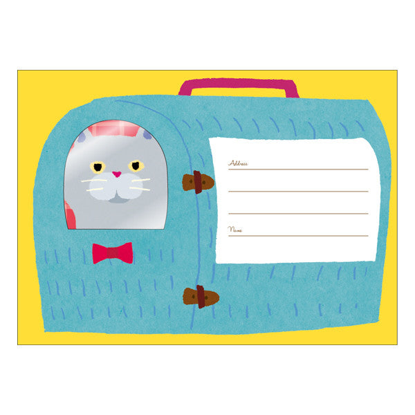 Cat Carrier Hello Letter Set Writing Papers & Envelopes.