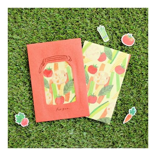 Vegetable Letter Set Writing Papers & Envelopes