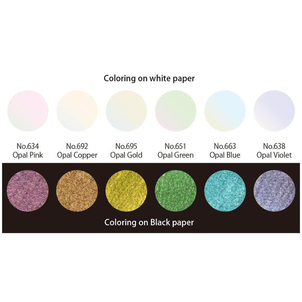 Kuretake Gansai Tambi Opal 6 Color Set