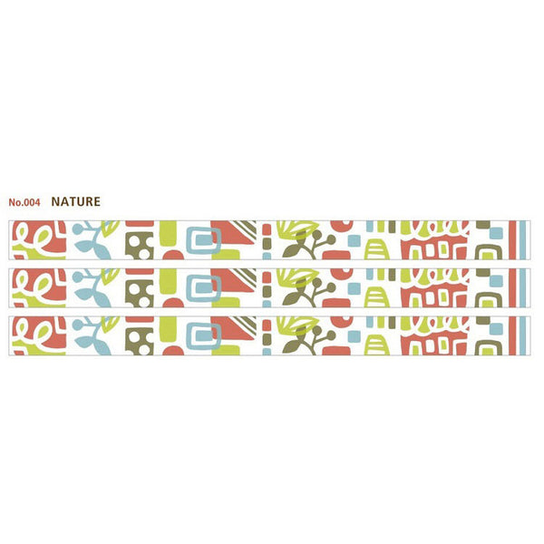 Material Michemon Nature Round Top Masking Tape
