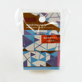 Triangle Geometry Round Top Masking Tape • Yamabiko Material Michemon Tokiiro Series