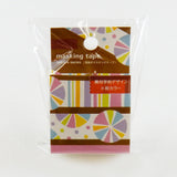 Geometry Round Top Masking Tape • KYO-AME Material Michemon Tokiiro Series