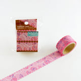 Geometric Round Top Masking Tape • Ribbon Material Michemon Tokiiro Series