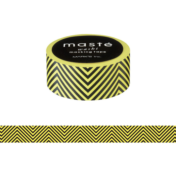 Yellow Chevron Japanese Washi Tape • Basic Masté Masking Tape