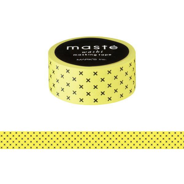 Yellow Cross Japanese Washi Tape • Basic Masté Masking Tape