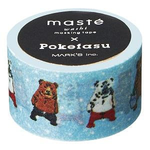 Pokefasu Pokerface masté® Collab' Japanese Washi Tape • Masté Masking Tape