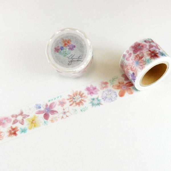 Orange Flower Chamie Garden Path Round Top Masking Tape