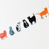 Soupy Tang Cat Washi Tape Path Round Top Japanese Masking Tape