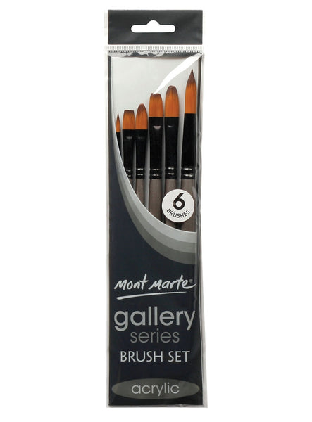 Gallery Series Brush Set Acrylic 6pcs