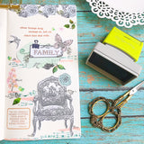 Binder Clip and Note Pre-inked Stamp