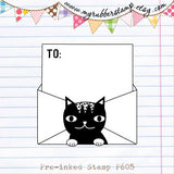 Snail Mail Revolution: Kitty Cat To: Pre-inked Stamp