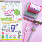 Just a note Pre-inked Stamp, a little reminder note for the important stuffs • Teacher Stamp • Reminder Stamp • Organize Planner Stamp ♥ OOAK Original bird illustration designed by me ♥  Perfect as back to school gift, library stamp, teacher stamp, teacher appreciation or birthday gift!