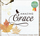 Amazing Grace Pre-Inked Stamp, original design, proudly made in Houston.