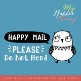 Owl Happy Mail Please Do Not Bend Pre-inked Stamp