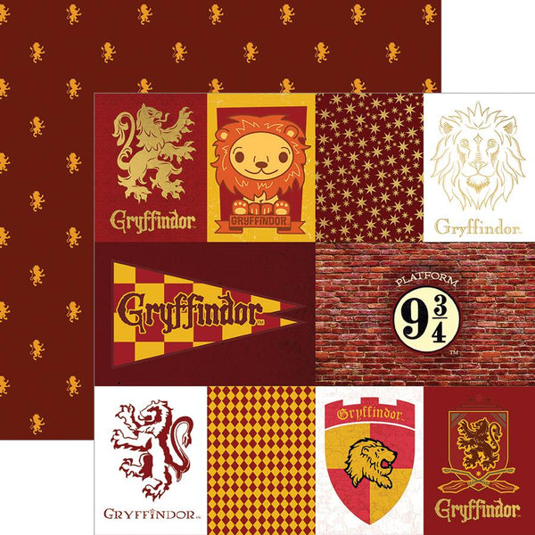 Have you been sorted into Gryffindor? Maybe you know a Gryffindor? Use this fun house tag paper any time you want to craft about your favorite courageous and brave witch, wizard, or Muggle!