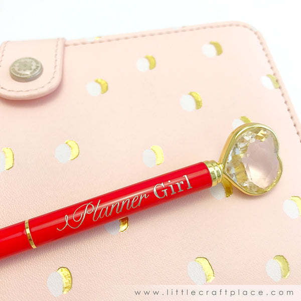 Little Craft Place Exclusive Heart Diamond Pens - Planner Girl
