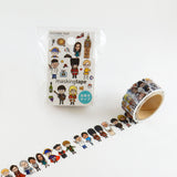 People 2 Round Top Masking Tape • Tips Die-Cut Tape Character Series