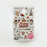 Wedding Round Top Masking Tape • Tips Die-Cut Tape Character Series