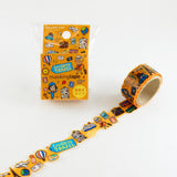 Travel Round Top Masking Tape • Tips Die-Cut Tape Character Series