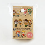 School Round Top Masking Tape • Tips Die-Cut Tape Character Series