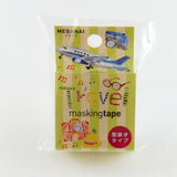 Travel Round Top Masking Tape • Atelier Apartment Die Cut Washi Tape