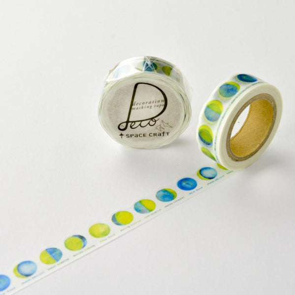 Moon Washi Tape • Round Top Masking Tape Space Craft
