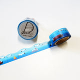 Gulls Round Top Masking Tape • Seagull Bird Space Craft