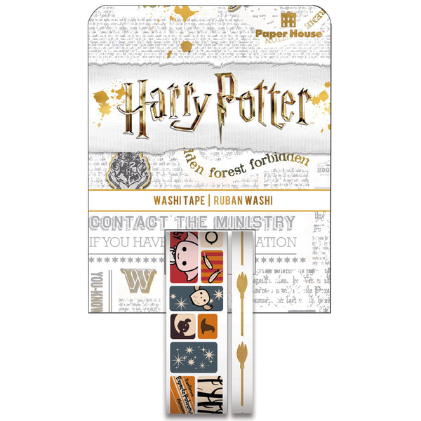 This Harry Potter Chibi Scenes washi tape set features Harry, Ron, Hermione, Hedwig, and Dobby in their adorable illustrated form. Add some magic to whatever you choose to embellish!