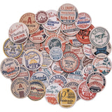 "Tim Holtz' Idea-ology line consists of those strange little doo-dads that you never really knew you needed until you saw them and then wondered how you ever quite lived without them. Great for all of your paper crafting projects, scrapbooking, cards, altered books and collages. Milk Caps- 50 chipboard circles with vintage milk labels. Captions are Cream, Drink More Milk, Grade A Raw Milk, Glen Dairy Chocolate Milk, and more. Largest measures approximately 1.75""."