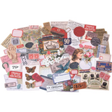 You'll love the vintage found item look of the Keepsakes Ephemera Pack from the Idea-ology Collection by Tim Holtz for Advantus. The package includes 95 assorted die cut cardstock pieces including butterflies, tickets, vintage ads and more.