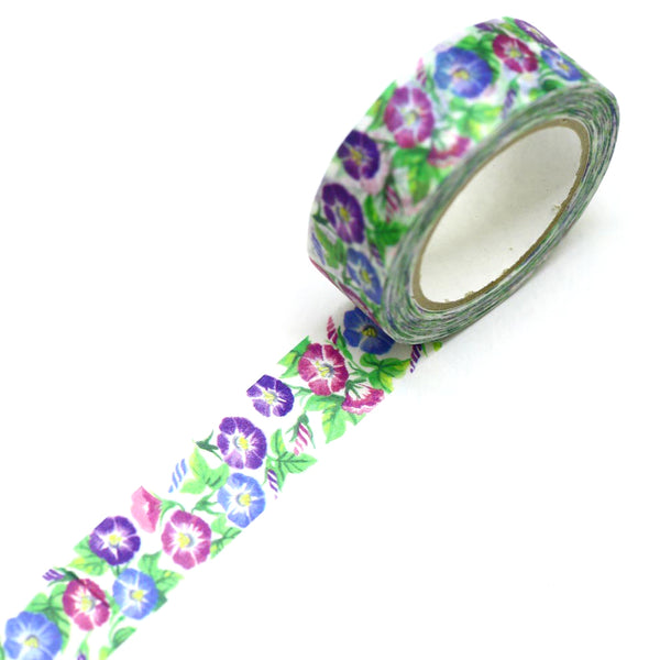 Morning Glory Flower Washi Tape SAIEN Japanese Washi Tape