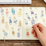 People Washi Flake Sticker (40 pieces)