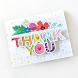 Thank You Card by Paige Evans for Little Craft Place