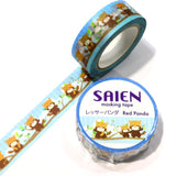 Red Panda Japanese Washi Tape SAIEN