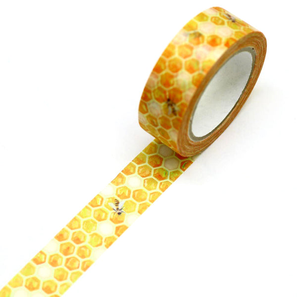Honey Bee and Honeycomb Japanese Washi Tape SAIEN