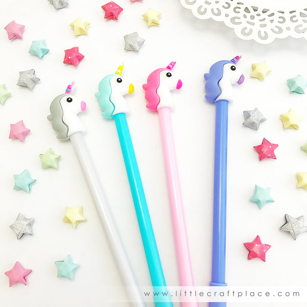 These super magical unicorn pens are perfect for planning, for work, home, desk or for school. They will be a beautiful addition to your pen collection!
