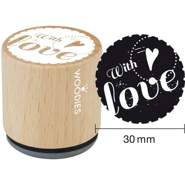 With Love Woodies Mounted Rubber Stamp 1.35""