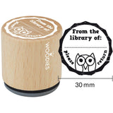 From The Library Of: Woodies Mounted Rubber Stamp 1.35""