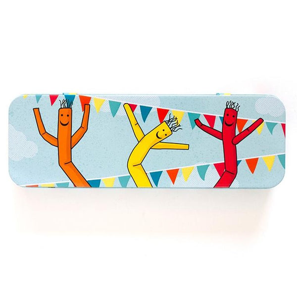 Wacky Waving Inflatable Arm Flailing Tube Man metal pencil case.