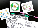 Colorful Hand Lettering workshops with Kelly Klapstein (KellyCreates)