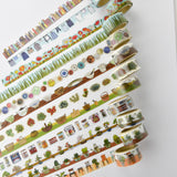 Laundry Round Top Masking Tape • Yano Design Debut Series Natural Washi Tape