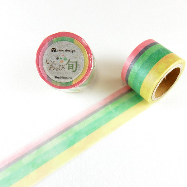 IROASOBI 旬 Season Washi Tape • Round Top Masking Tape Yano Design