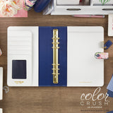 Navy Floral A5 Planner Kit Color Crush Webster's Pages • FREE WASHI TAPE