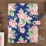 Webster's Pages Navy Floral Color Crush A5 Planner Kit. Get a washi tape for FREE when you order the Navy Floral planner kit from us.